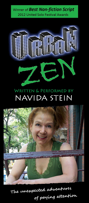 Navida Stein, URBAN ZEN, Best Non-fiction Script, Writer, Playwright, NavidaStein.com